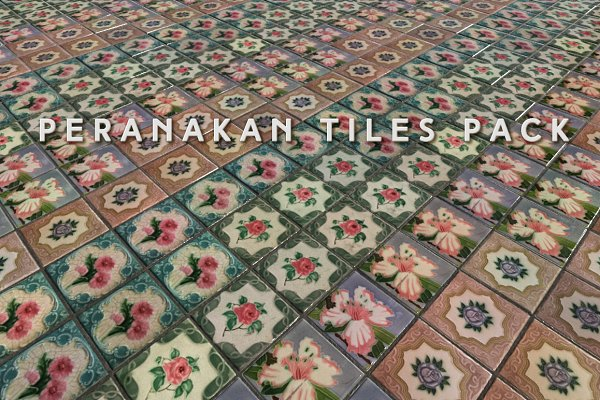 Textures & Material: Fiat Lux - Peranakan Tiles (Tileable)