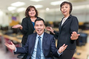 Happy Businessman Teamwork