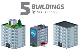Buildings set Isometric