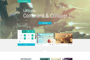 FLAT - fully layered PSD Template