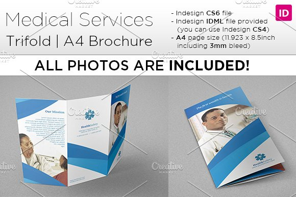 a4 brochure template - medical a4 trifold brochure brochure templates