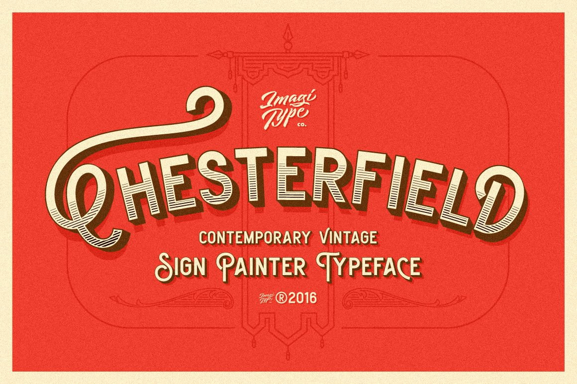 Chesterfield Typeface Display Fonts Creative Market