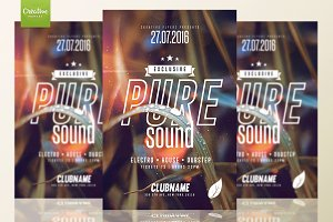 Pure Sound | Psd Flyer Template