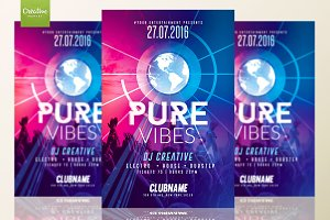 Pure Vibes Party | Flyer Template