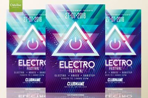 Electro Party | Psd Flyer Template
