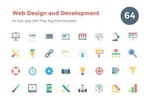 Web Design and Development Icons
