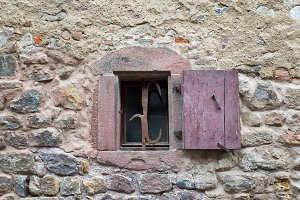 Old medieval french window