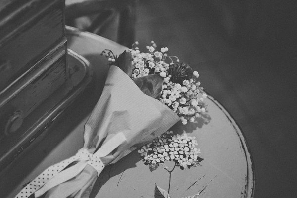 Bouquet in drawer in Black and Whit…