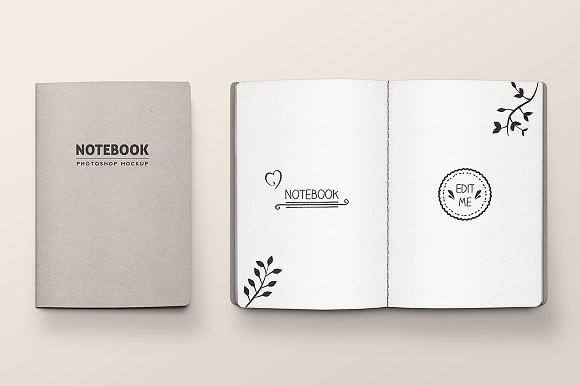 Download Stitched Notebook Mockup