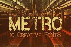 Metro - 10 Fonts Family