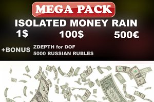 Isolated Money Rain Mega-Pack