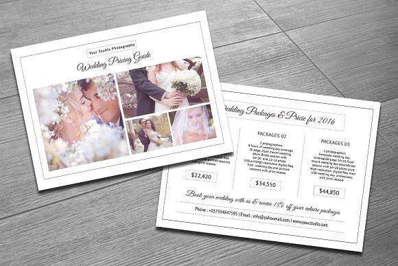 Wedding Photography Templates Free: Wedding Photography Price List-V275