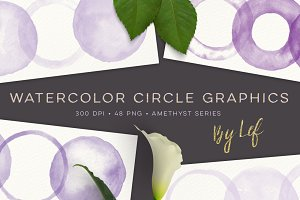 Watercolor Circles 'n Rings Amethyst