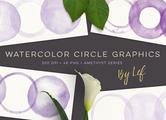 Watercolor Circles 'n Rings Amethyst