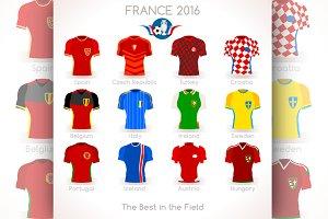 France UEFA EURO 2016 Jersey Icons