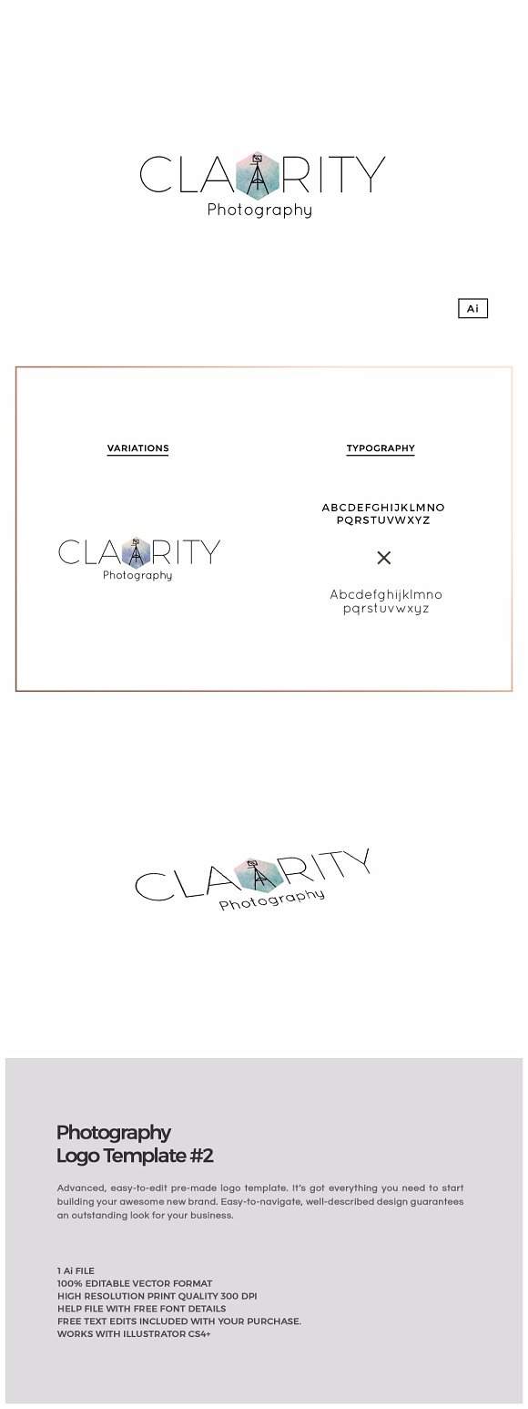 Clarity Photography Logo Template