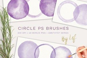 Watercolor Photoshop Brushes Circles