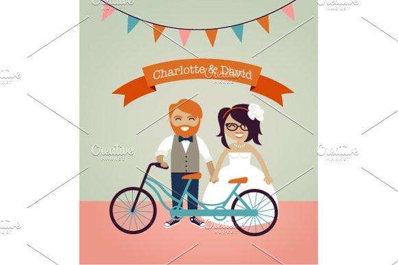 Hipster Wedding Invitation Ilrations