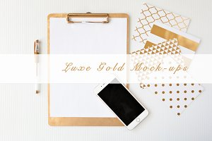 Gold Luxe Product Mockup Bundle