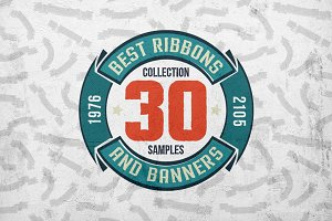 30 Ribbons & Banners set
