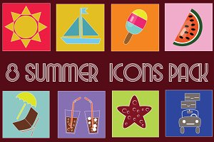 Fresh Summer Icons Pack