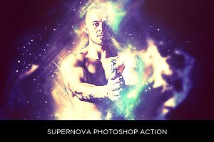 Supernova Photoshop Action