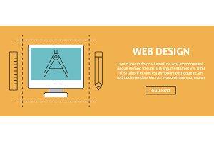 Web design concept banner