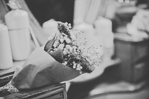 Beautiful flowers in drawer