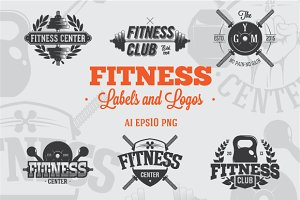 8 Fitness Labels and Logos