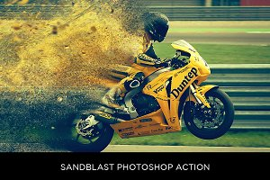 Sandblast Photoshop Action
