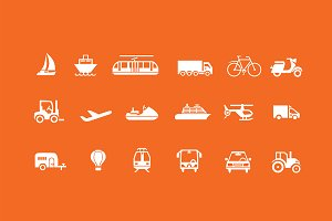 18 Travel & Transport Icons