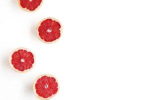 Grapefruit Styled Stock Photography