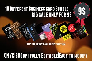 SALE:10 Different Business Card - 9$