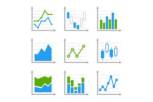 Business Infographic Charts Set