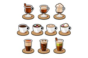 Coffee and tea cup set