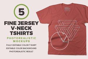 V-Neck T-shirts Mockups