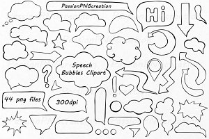 Speech Bubbles Clipart