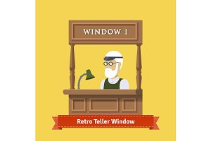 Teller window or pawn shop window