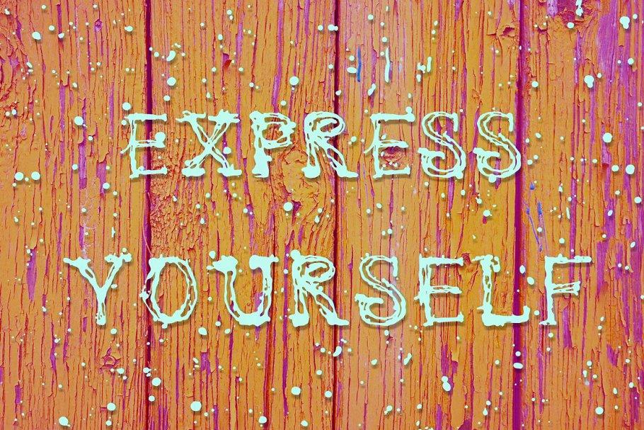 Express Yourself font | enamel paint font