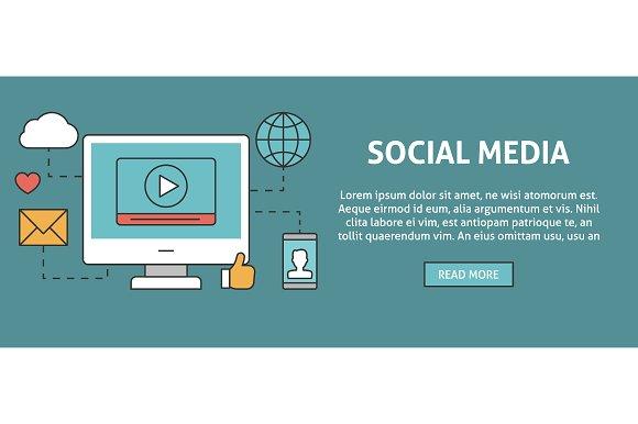 Social media concept banner