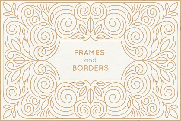 5 Linear frames and borders