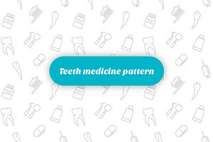 Teeth medicine pattern