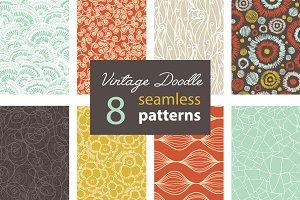8 Premium Vintage Doodle Patterns