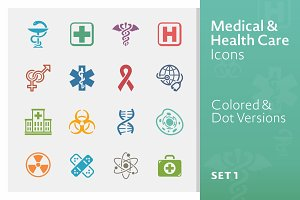 Medical & Health Care Icons 1