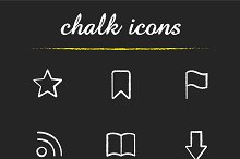 Web browser chalk icons. Vector