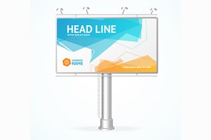 Billboard Concept. Vector