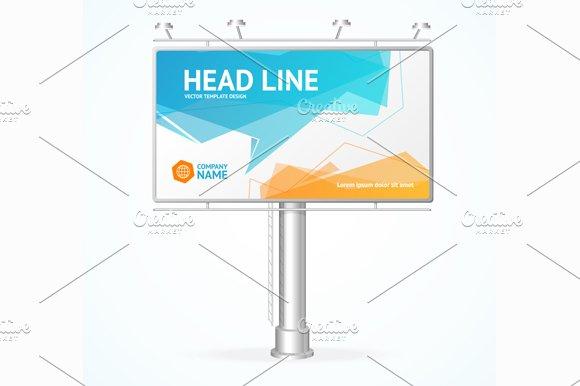 Billboard Concept. Vector in Illustrations