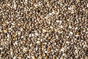 chia seeds macro texture