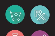 Pharmacy icons. Vector