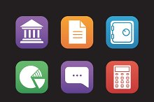 Bank icons. Vector